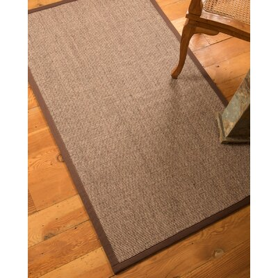 Gena Hand-Woven Brown Area Rug Rug Size: Rectangle 4 x 6
