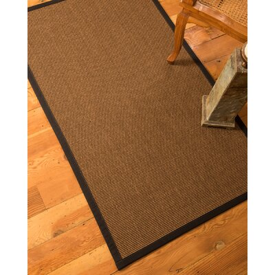 Riley Hand-Woven Brown Area Rug Rug Size: 6 x 9