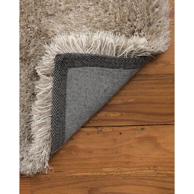 Grenshaw Shag Hand-Woven Gray Area Rug Rug Size: Rectangle 5 x 8