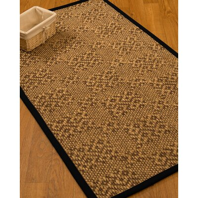 Camile Hand-Woven Beige Area Rug Rug Size: 4 x 6