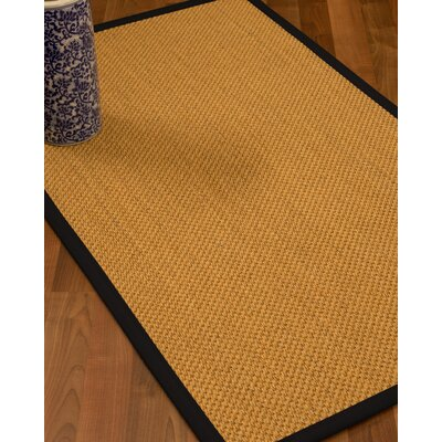 Aella Hand-Woven Beige Area Rug Rug Size: 6 x 9