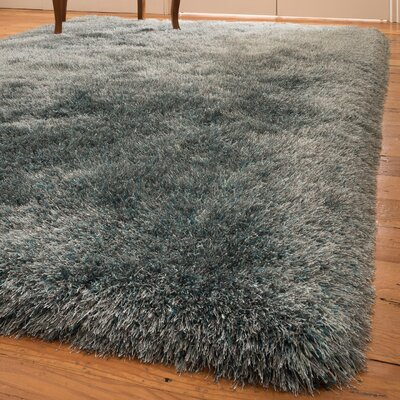 Alcantara Shag Hand-Woven Blue Area Rug Rug Size: Rectangle 8 x 10
