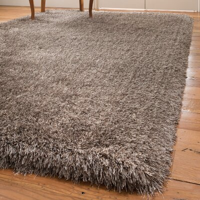 Karlie Shag Hand-Woven Brown Area Rug Rug Size: Rectangle 8 x 10