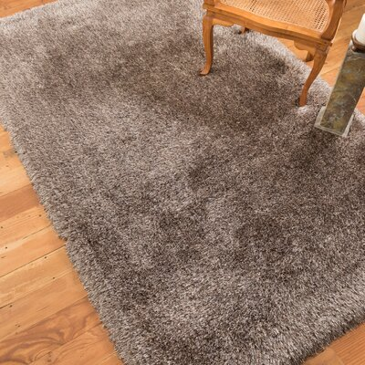 Karlie Shag Hand-Woven Brown Area Rug Rug Size: Rectangle 5 x 8