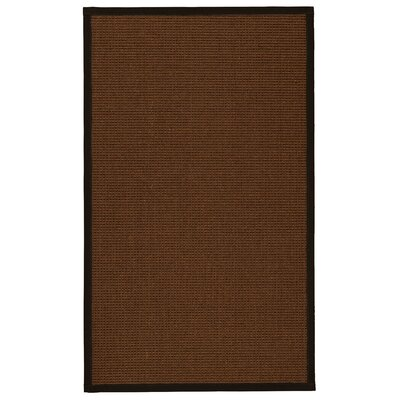 Hanwell Natural Fiber Sisal Hand-Woven Brown Area Rug Rug Size: Rectangle 5 x 8