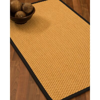 Aryanna Natural Fiber Sisal Hand-Woven Beige Area Rug Rug Size: Rectangle 9 x 12