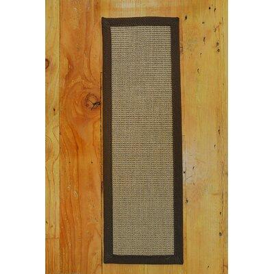 Jacobson Sisal Carpet Brown Stair Tread