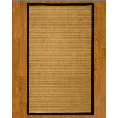 Bulpitt Natural Fiber Sisal Hand-Woven Beige Area Rug Rug Size: Rectangle 6 x 9