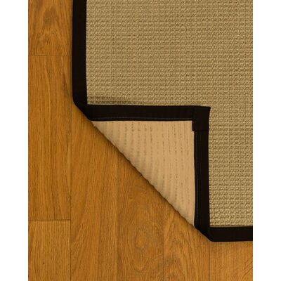 Jacobs Natural Fiber Sisal Hand-Woven Beige Area Rug Rug Size: Rectangle 6 x 9