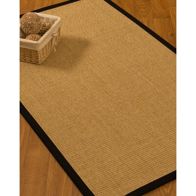 Calder Natural Fiber Sisal Hand-Woven Beige Area Rug Rug Size: Rectangle 9 x 12
