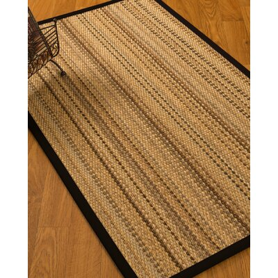 Aryana Natural Fiber Sisal Hand-Woven Beige Area Rug Rug Size: Rectangle 5 x 8