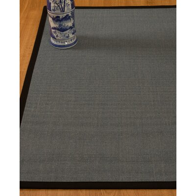 Ivy Natural Fiber Sisal Hand-Woven Gray Area Rug Rug Size: Rectangle 4 x 6