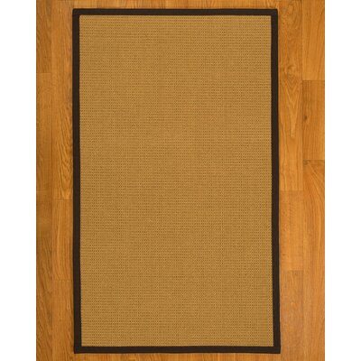 Coleridge Hand Woven Fiber Sisal Brown/Fudge Area Rug with Rug Pad Rug Size: 6 x 9
