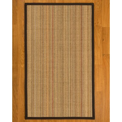 Aura Hand Woven Fiber Sisal Brown/Fudge Area Rug with Rug Pad Rug Size: 6 x 9