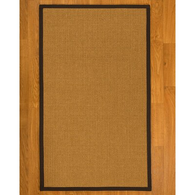 Aula Hand Woven Fiber Sisal Brown/Black Area Rug with Rug Pad Rug Size: 5 x 8