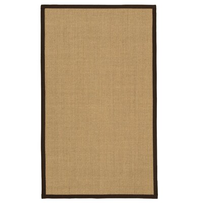 Atwell Hand Woven Fiber Sisal Brown/Fudge Area Rug with Rug Pad Rug Size: Rectangle 4 x 6
