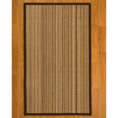 Dover Hand Woven Fiber Sisal Brown/Fudge Area Rug Rug Size: Runner 26 x 8
