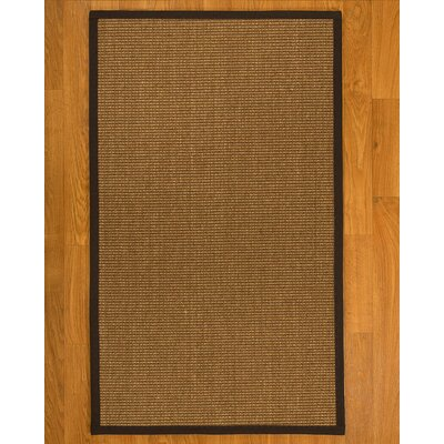 Avalynn Hand Woven Fiber Sisal Brown/Fudge Area Rug with Rug Pad Rug Size: Rectangle 5 x 8