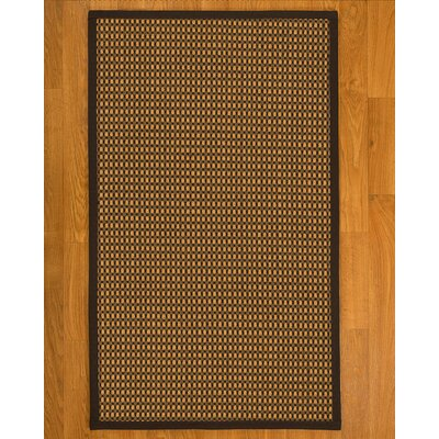 Avelina Hand Woven Fiber Sisal Brown/Fudge Area Rug with Rug Pad Rug Size: 4 x 6