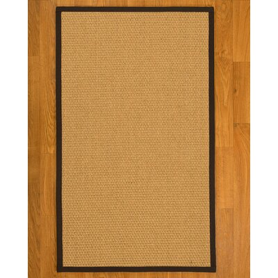 Aureliana Hand Woven Fiber Sisal Brown/Fudge Area Rug with Rug Pad Rug Size: Rectangle 4 x 6