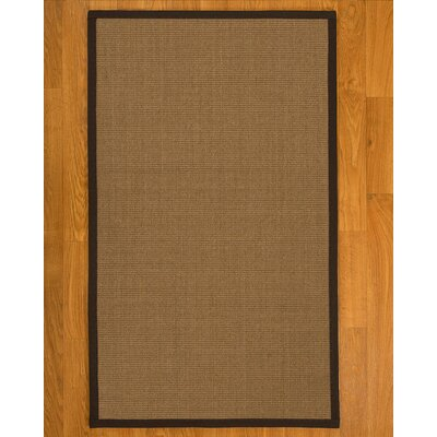 Jamesville Hand Woven Fiber Sisal Brown/Fudge Area Rug with Rug Pad Rug Size: Rectangle 4 x 6