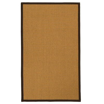 Atia Fiber Hand Woven Sisal Brown/Fudge Area Rug with Rug Pad Rug Size: 6 x 9