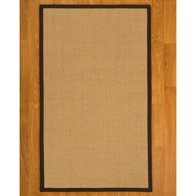 Lanie Hand Woven Brown/Fudge Area Rug Rug Size: Rectangle 6 x 9
