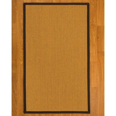 Aurora�Hand Woven Rustic Fiber Sisal Brown/Fudge Area Rug with Rug Pad Rug Size: Rectangle 4 x 6