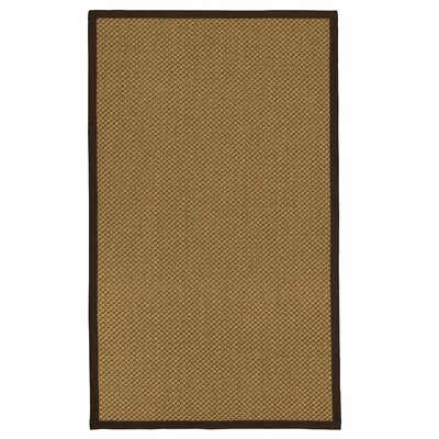 Loehr Hand Woven Fiber Sisal Brown/Fudge Area Rug with Rug Pad Rug Size: 4 x 6