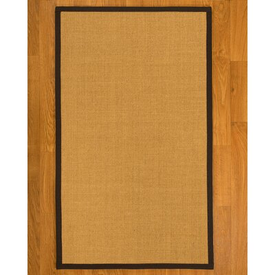 Dover Hand Woven Fiber Sisal Brown/Fudge Area Rug with Rug Pad Rug Size: 4 x 6