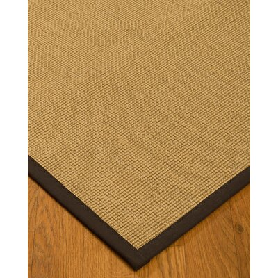Lanie Hand Woven Fiber Sisal Brown/Fudge Area Rug Rug Size: Runner 26 x 8
