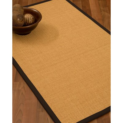 Buggs Fiber Hand Woven Sisal Brown/Fudge Area Rug with Rug Pad Rug Size: 4 x 6
