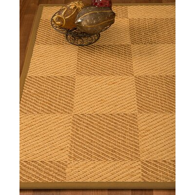 Luhrmann Hand Woven Beige/Brown Area Rug Rug Size: Rectangle 6 X 9