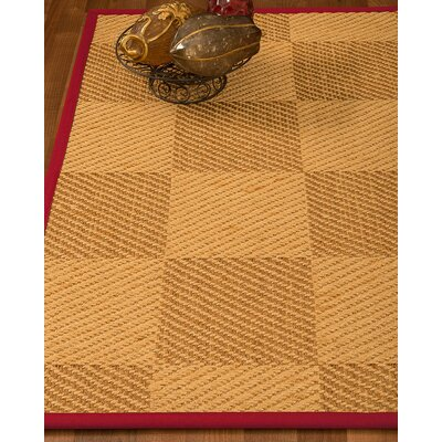Luhrmann Hand Woven Beige/Brown Area Rug Rug Size: Rectangle 6' X 9'