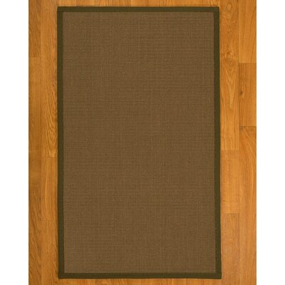 Aderyn Hand-Woven Brown Area Rug Rug Size: Rectangle 2' X 3'