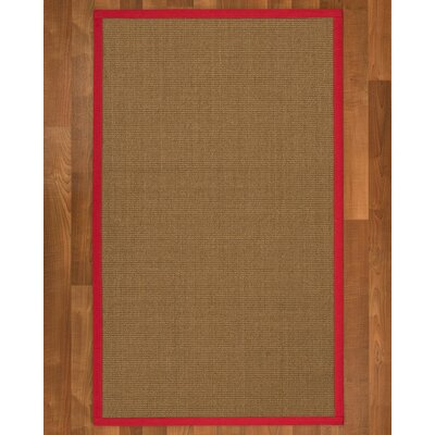 Jamesville Sisal Red Area Rug Rug Size: 4 X 6