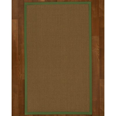 Aderyn Hand Woven Brown Area Rug Rug Size: Rectangle 4 X 6