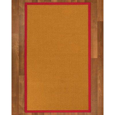 Bullen Sisal Red Area Rug Rug Size: 2 X 3
