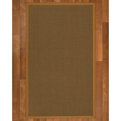 Aderyn Hand-Woven Brown Area Rug Rug Size: Rectangle 2 X 3