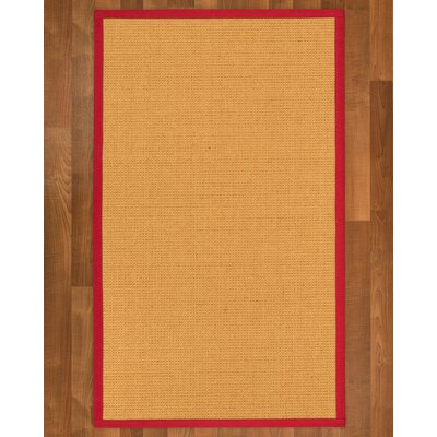 Buggs Sisal Red Area Rug Rug Size: 2 X 3