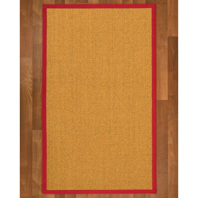 Pritzker Hand Woven Yellow Area Rug Rug Size: Rectangle 4 X 6