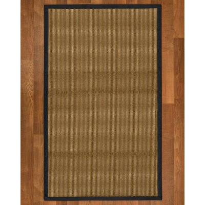 Asther Hand-Woven Brown Area Rug Rug Size: Rectangle 4 X 6