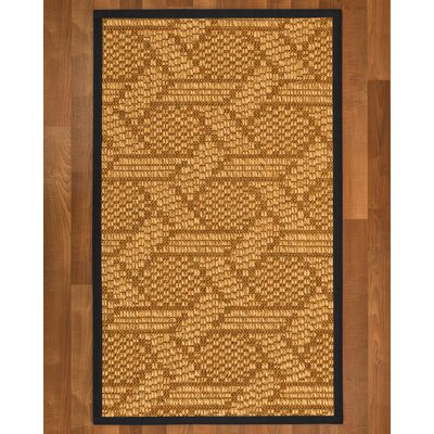 Aalin Hand Woven Brown Blue Area Rug Rug Size: Rectangle 6 X 9