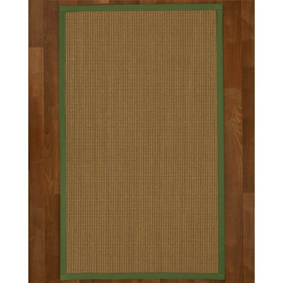 Asther Sisal Green Area Rug Rug Size: 9 X 12