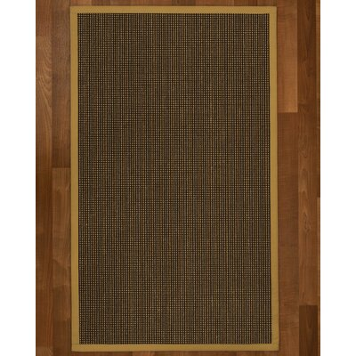 Hedlund Hand Woven Brown Area Rug Rug Size: Rectangle 3 X 5