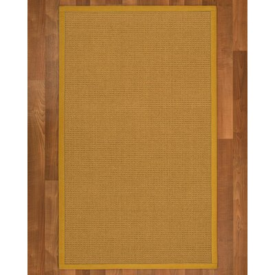 Coleridge Sisal Tan Area Rug Rug Size: 4 X 6
