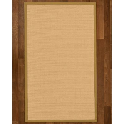 Rupendra Hand-Woven Beige Area Rug Rug Size: Rectangle 4' X 6'