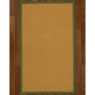 Coleridge Sisal Green Area Rug Rug Size: 4 X 6