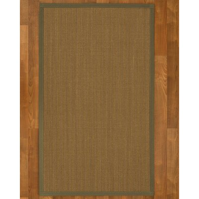 Asther Hand-Woven Brown Area Rug Rug Size: Rectangle 2 X 3