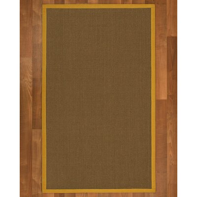 Aderyn Hand Woven Brown Area Rug Rug Size: Rectangle 9 X 12